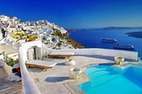 Fototapety luxury vacation - Santorini