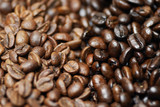 Decaffeinated and caffeinated arabica coffee beans