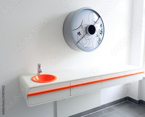 Design Waschtisch und Design Lampe