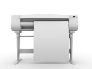 Plotter frontal view