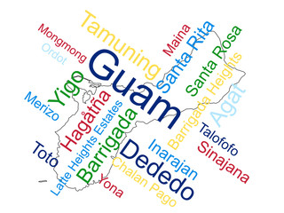 Guam Map and Cities