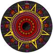 Engraving vintage Maya calendar
