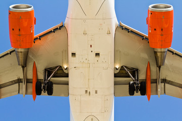 Airplane view from below