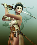 Fototapete Fantasy - Frau - Andere