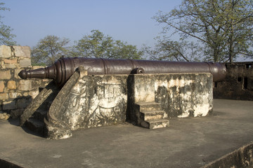 Cannon at Jhansi Fort