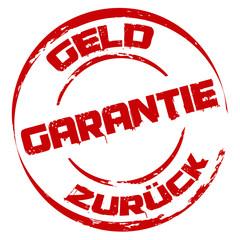 Stempel: Geld zurück Garantie