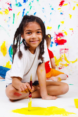 Junior student painting