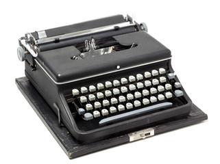 alte tragbare schreibmaschine isoliert