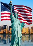 Fototapety New York skyline, statue de la liberté