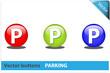 Botón parking colores RGB
