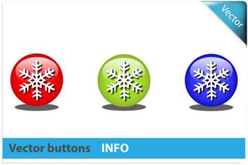 Botón nieve colores RGB