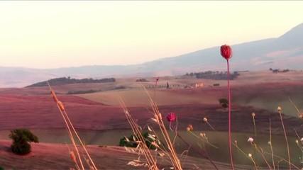 toscana, tramonto