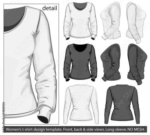 Women's t-shirt design template