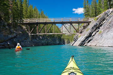 kayaking, cascade river, alberta