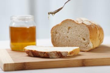organic honey and bread