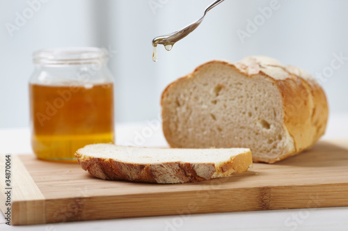 organic honey and bread