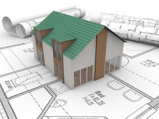 Haus, Baupläne, Architektur, Immobilie