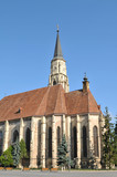 Gothic cathedral in Transylvania, Romania poster