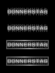 DONNERSTAG counter - deutsch tag
