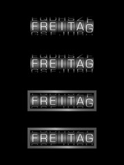 FREITAG counter - deutsch tag