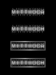 MITTWOCH counter - deutsch tag