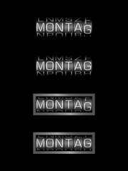 MONTAG counter - deutsch tag