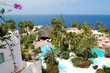 Recreation area with swimming pools and beach of luxury hotel, T
