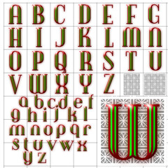 ABC Alphabet background debonair inline design