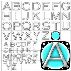 ABC Alphabet background copperplate design