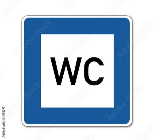 WC , Verkehrsschild
