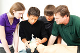 Heath Education - Oxygen Mask CPR poster
