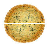 Spinach Quiche Pie Halves
