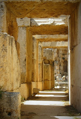 Corridor of old lock in Lebanon