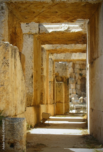 Corridor of old lock in Lebanon