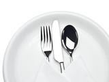 Besteck auf Teller