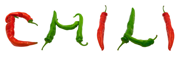 CHILI text composed of peppers