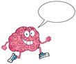 Running Brain With Speech Bubble