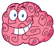 Happy Brain Cartoon Character