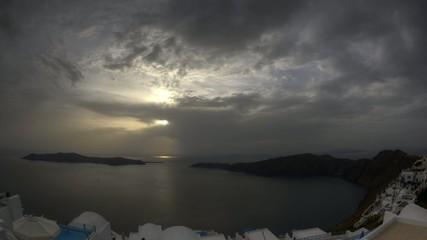 Sunset in Santorini Imerovigli