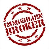 stempel immobilien-broker I poster