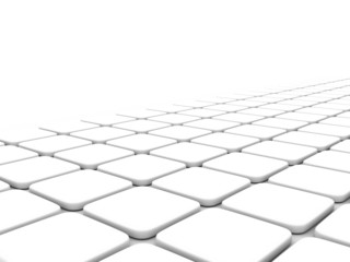 abstract background of white cubes