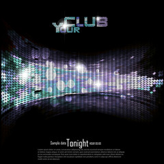Disco | Club invitation background.Vector illustration.