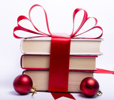 Fototapety Gift wrapped books for Christmas