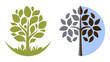 Vector tree emblem 3 - 34887407