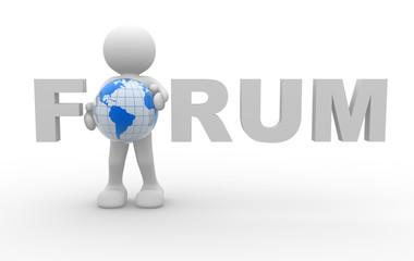 """Forum"" word"