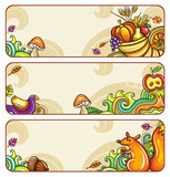 Vector set of decorative autumnal banners. part 3