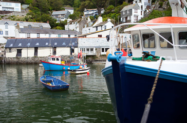Polperro fishing village harbor