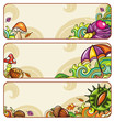 Vector set of decorative autumnal banners. part 2