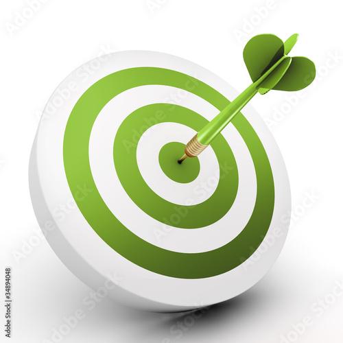 Leinwanddruck Bild Eco target