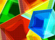 Colorful glass cubes